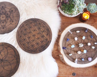 XL Stained Crystal Grid, Crystal Grids, Healing Crystals