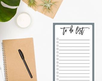 To-Do List Notepad / Daily To Do List / Day Planner / Daily Planner Notepad / Chore List / To-Do List / To Do Planner / Todo List / Gray