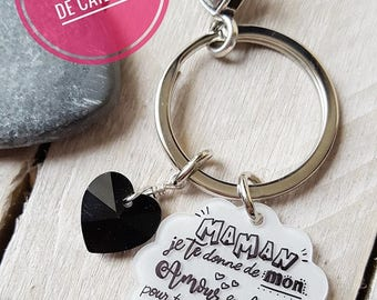 Keychain with personalized message for MOM