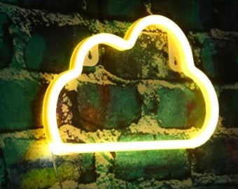 Acrylic Neon CLOUD Light - USB - Warm White