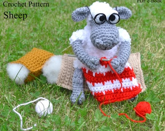 Granny sheep crochet pattern Crochet lamb amigurumi pattern Sheep figurine Unique grandma birthday gift Sheep lover gift PDF download