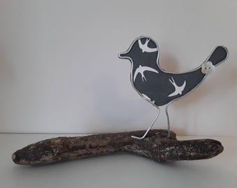 Bird sculpture,  wire