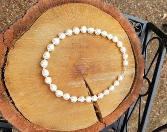 Baroque Pearl and Sterling Silver Necklace, Baroque Pearls, Pearl Necklace, Sterling Silver, Large Baroque Pearls, Bridal Necklace, Wedding
