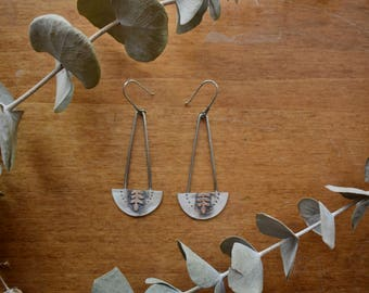 Flourish Earrings No.2 - Botanical - Sterling Silver - Earrings