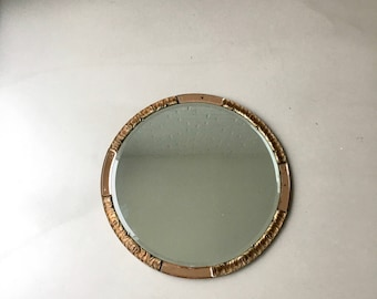 Vintage Mirror round, Art deco mirror, Atsonea wall mirror, bedroom mirror, vintage home decor,
