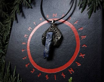 Earthborn Lapis Lazuli / Crystal Pendant / Crystal Jewelry / Handmade / Unique / Pagan / Heathen / Amulet / Nordic