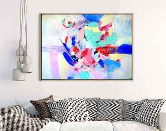 Abstract Art, Large Abstract Print , Giclee Print , Canvas print,  Modern Art , Fine Art Print , Abstract Expressionism - Evolution