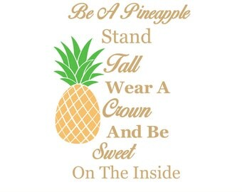 Pineapple Quote Svg Etsy
