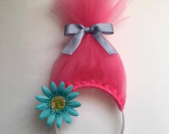 Trolls themed tulle headbands
