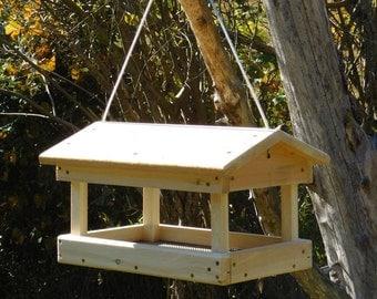 Cedar Fly Through Bird Feeder ,Hanging Bird Feeder,Large Bird Feeder