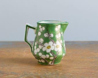 Miniature Ceramic Pitcher - Vintage Dollhouse / Fairy Garden Accessory