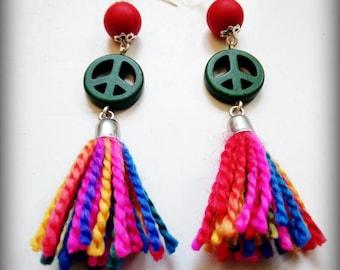 Peace & love earrings