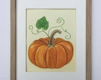 Fall Wall Art pumpkin wall art | etsy
