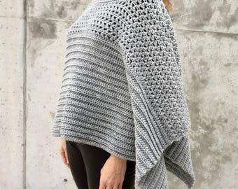 Poncho PATTERN, Crochet Shrug Pattern, Oversized Sweater Pattern, Crochet Top, Crochet Cardigan, Crochet Wrap, Crochet Poncho Pattern, PDF