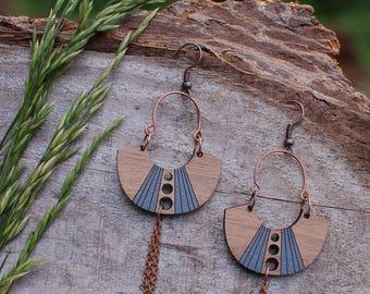 Woode Earrings - Deco2