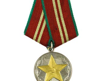 USSR Soviet Russia Medal 15 years of impeccable service of the Armed Forces MVD