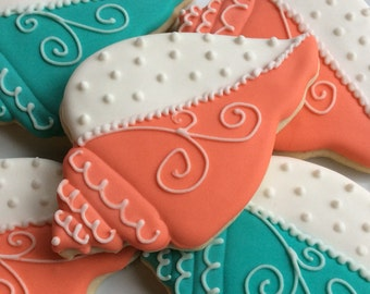 Conch Seashell Decorated Cookies  destination wedding bridal shower baby shower beach Party Wedding FavorBachelorette party