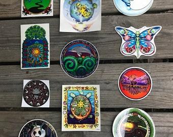 Vintage Psychedelic Sticker Pack 1