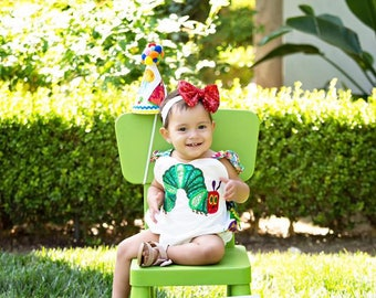 Very Hungry Caterpillar Birthday Romper Outfit