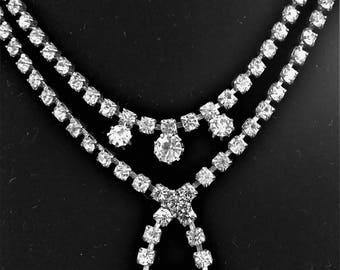 Adjustable Vintage Rhinestone Necklace