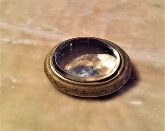 Gold Filled, Locket Brooch