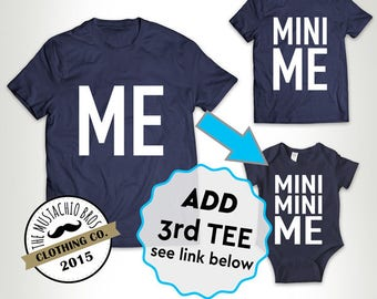Me and Mini Me - Father Daughter Matching Shirts Father And Son Gift - Daddy Baby Shirt Matching Family Outfits Bodysuit MB236-MB237