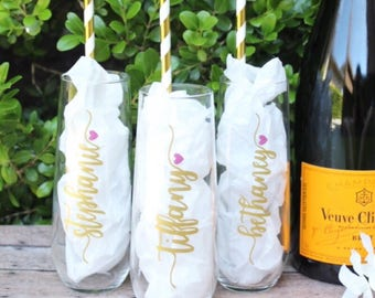 Personalized Champagne Flute | Bridal Party Champagne Glasses | Bridesmaid Proposal Champagne | Personalized Champagne Glasses | Gift