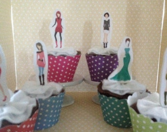America's Next Top Model Party Cupcake Topper Decorations - Set of 10