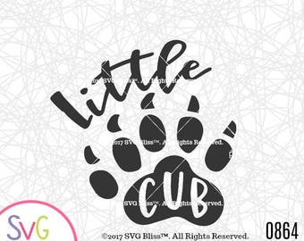 Baby Boy SVG, Little Cub, Bear Paw SVG, Digital Download Cutting File for Cricut or Silhouette, svg, eps, dxf files included