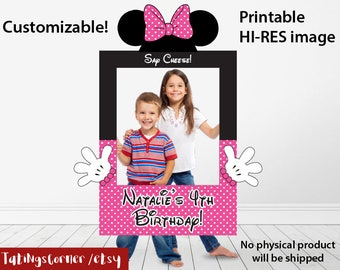 Minnie Mouse Photo Booth, Minnie Photo Booth Frame, Minnie Mouse Frame, Minnie Mouse photo frame, Minnie Mouse CUSTOM photo frame, Minnie