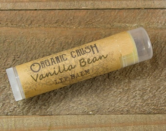 VANILLA BEAN Lip Balm | Organic Lip Balm | Natural Lip Balm | Vanilla Chapstick | Natural Chapstick | Vanilla Lip Balm