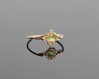 Vintage Peridot Ring - Peridot Ring, August Birthstone Ring, August Birthstone Jewelry, Peridot Ring Gold, Birthstone Ring