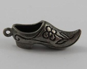 Dutch Clog Silver Vintage Charm For Bracelet