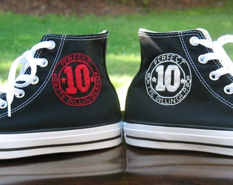 Custom shoes, custom sneakers, Custom Converse, Men's Converse, Personalized Converse, Custom logo, High Tops, Custom men's gift, groom gift