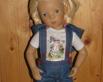 Denim Overall for 33-35 cm doll (Petitcollin Minouche,Paola reina)