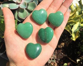 Bulk Crystals Heart 10 Green Aventurine Crystal Heart / Healing Crystals and Stones