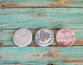 Catholic Pinback Button Set, Hail Mary, St JPII, Catholic Gifts Under 10, Catholic Stocking Stuffers