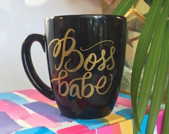 Boss Babe Mug - Black & Gold