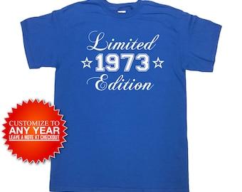 Funny Birthday Shirt 1973 (Any Year) 45th Birthday Shirt 45th Birthday Gift 45 Years Old Custom Shirt Birthday Tee Mens Ladies Tee - SA967