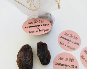 Save the date favors, Save the dates,  Muslim wedding favor, Pakistani wedding, Iftar invite, Save the date tag, Engagement favors, 10 ct.