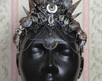 Shell Mermaid Siren Crown Headpiece