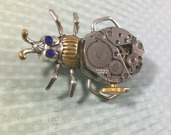 Steampunk Bug Brooch