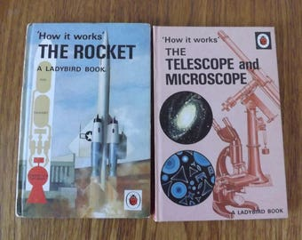 Ladybird How it Works hardback books The Rocket, The Telescope and Microscope