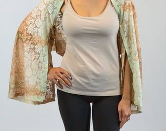 Peach/Mint Green Ombre Lace