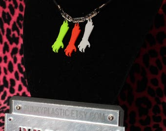 3x zombie hand necklace