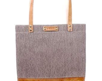 Leather and Canvas Shopper