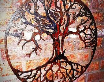 Lovely Metal Tree Wall Art   Tree Of Life Wall Art Metal   Tree Of Life Wall Part 28
