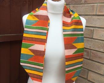 African print  head wrap, head tie
