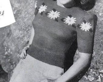 PDF 1940s knits for women, entire book of patterns, 8 women's tops, sweaters, cardigans, short and long sleeves, wartime fashion