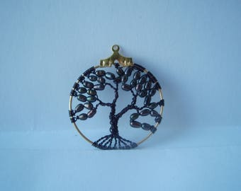 Iridescent blue freshwater pearl Tree of Life Pendant